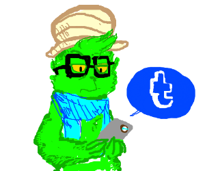 The Grinch's hipster cousin