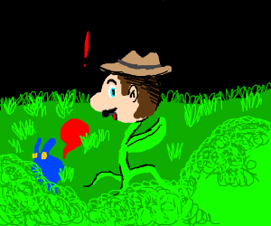 Mario is secretly a cowboy and a flower