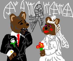 A Bear is getting married, kinda nervous.