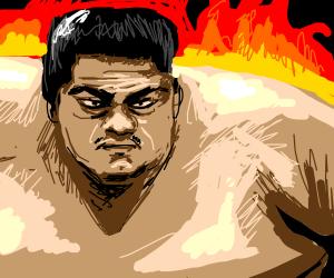 Tough Sumo wrestler