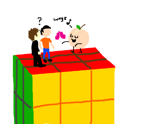 People on Rubik's cube get lungs for Christmas