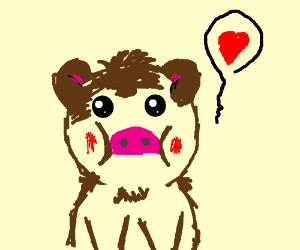cute brown piggy