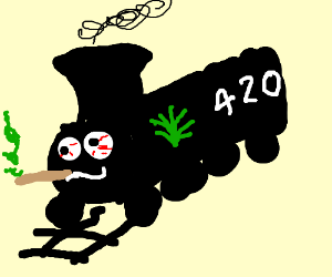 All aboard the blaze it train