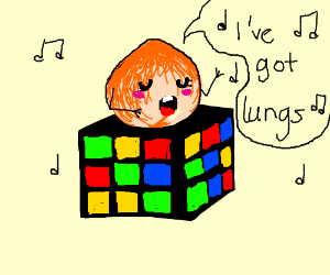 peach sings about lungs on rubix cube