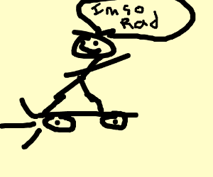Rad skateboarder