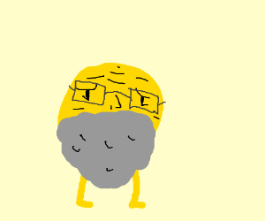 Elderly emoji with glasses and legs