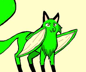 Green fox dragon