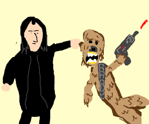 Snape captures Chewbacca