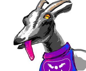 Pilgor from Goat Simulator Cosplays as Toriel - Drawception