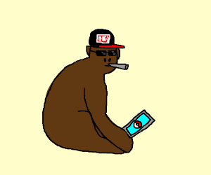 monkey thinks he's cool bc he plays pokemon go