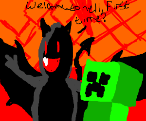Demon takes creeper to hell