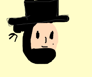 Honest Abe with hair bun