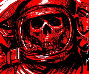 astronaut skeleton (awesome drawing!)