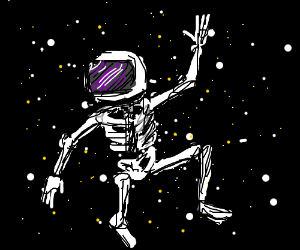 astronaut skeleton (awesome drawing!) - Drawception