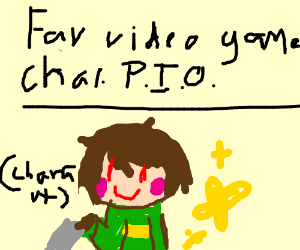Favorite video game Character P.I.O pass it on