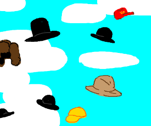 Hats in the sky