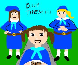Buy our cookies or else