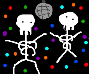 Skeleton dance party!