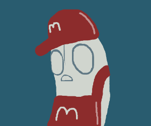 Napstablook works at McDonald's now