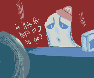 ghost works at mcdonalds