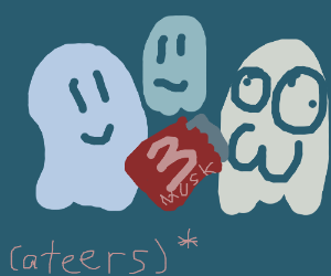 Ghosts share a 3 Musketeers candy bar