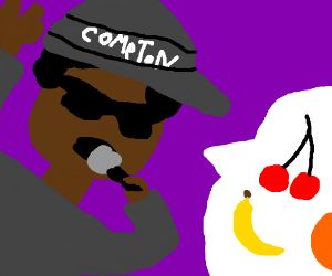 Rapper (Eazy E?) rapping about fruit.