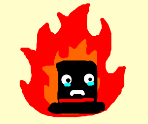 A top hat is burning to death, SAVE HIM