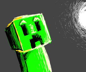 A surprised creeper... maybe?