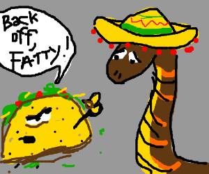 a Mexican is rejected by food