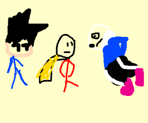 Goku Vs Sans Vs One Punch Man Drawception