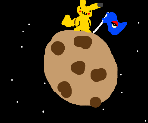 pikachu on the cookie planet