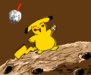 a pikachu got to the cookie planet