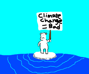 Polar bears wants to stop climate change