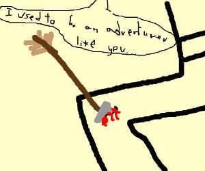 Skyrim, arrow in the knee