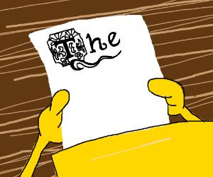 guy writes an essay