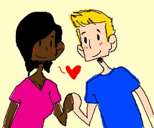 black girl loves white boi ;)