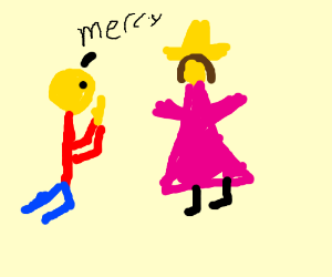Man Begging For Mercy