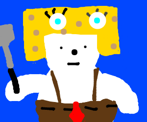 Polar Bear cosplays as Spongebob