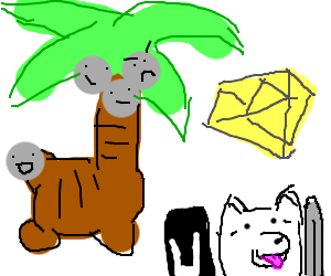 Alolan Exeggutor, Yellow Diamond, & Lesser dog