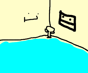 Man Sadly Sitting In The Corner