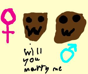 brown monsters getting married
