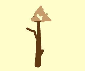 Triforce on a stick