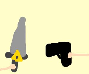 Bringing a sword to a gun battle