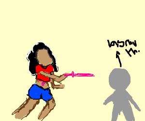 Stevonnie stabs Bismuth