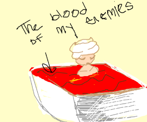 Literal blood baths are for winners only