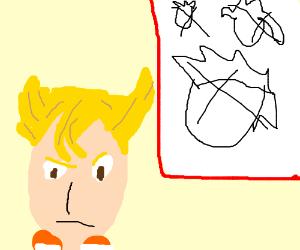 Pearl can't draw Rose Quartz's hair