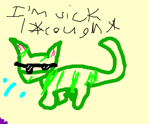 kewl sick kitteh
