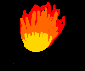 A fiery inferno in the void