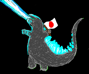 Godzilla shows his Japanese Pride