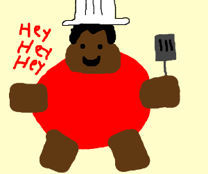 Fat Albert the chef